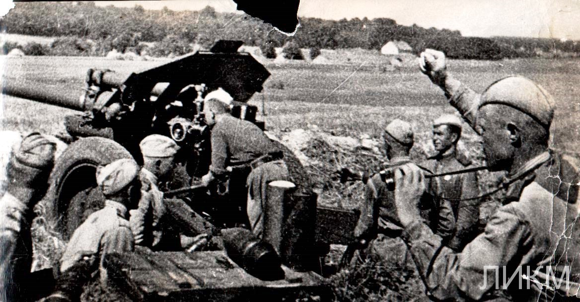 Орудие меняет огневую позицию (с. Переезжее. Август 1942 г)