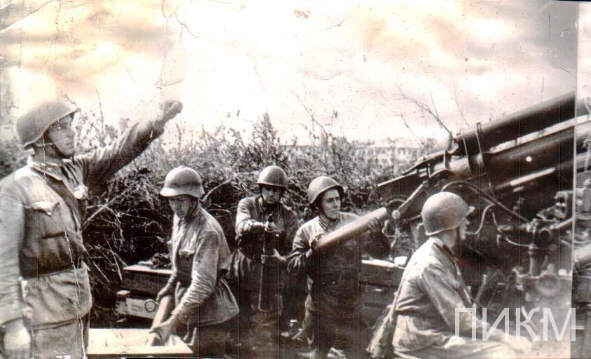1942 г. Части Красной Армии на обороне станции Лиски